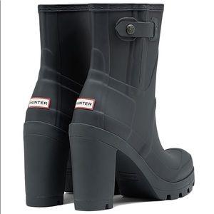 Brand New Hunter High Heeled Boots in Dark Gray